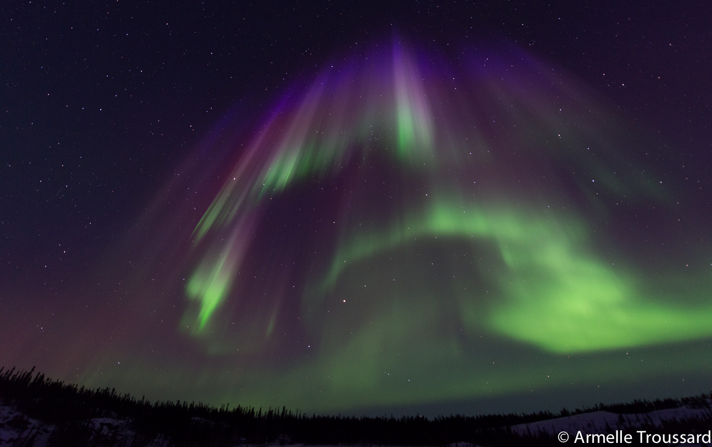 Aurora Borealis in the Northwest Territories, Canada