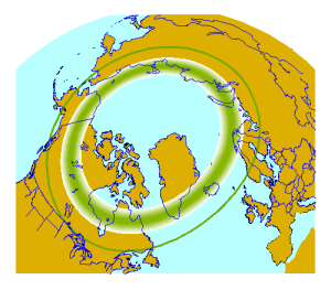 Aurora Belt. Image from the Geophysical Institute, University of Alaska. www.gi.alaska.edu