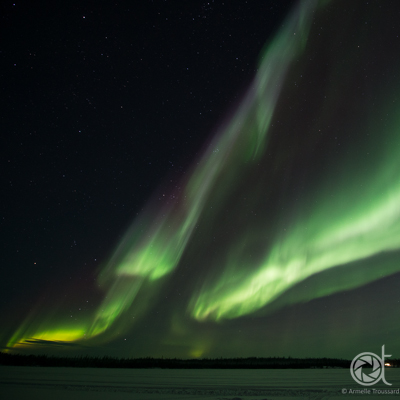 aurora borealis in yellowknife, canada, northwest territories