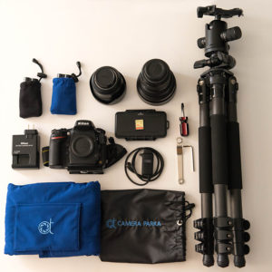 Photo gear and accessories for photographing northern lights