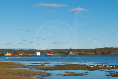 Yellowknife bay - Floating houses in summer