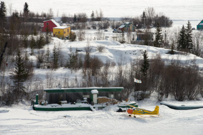 Yellowknife bay - Floating houses in winter - Lifestyle
