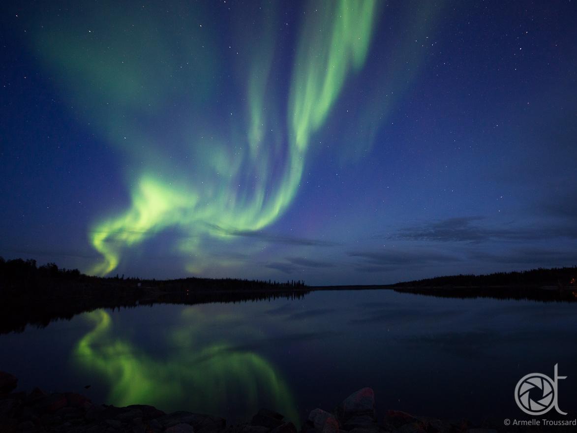 Northern lights - Pontoon lake, Northwest Territories, Canada