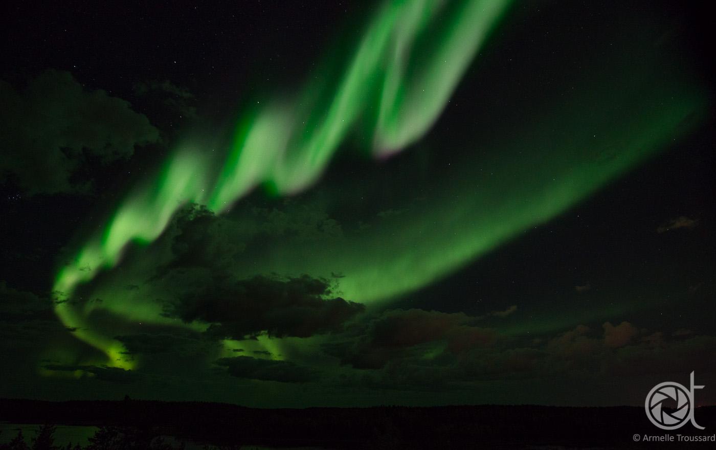 Northern lights - Vee lake, Northwest Territories, Canada.