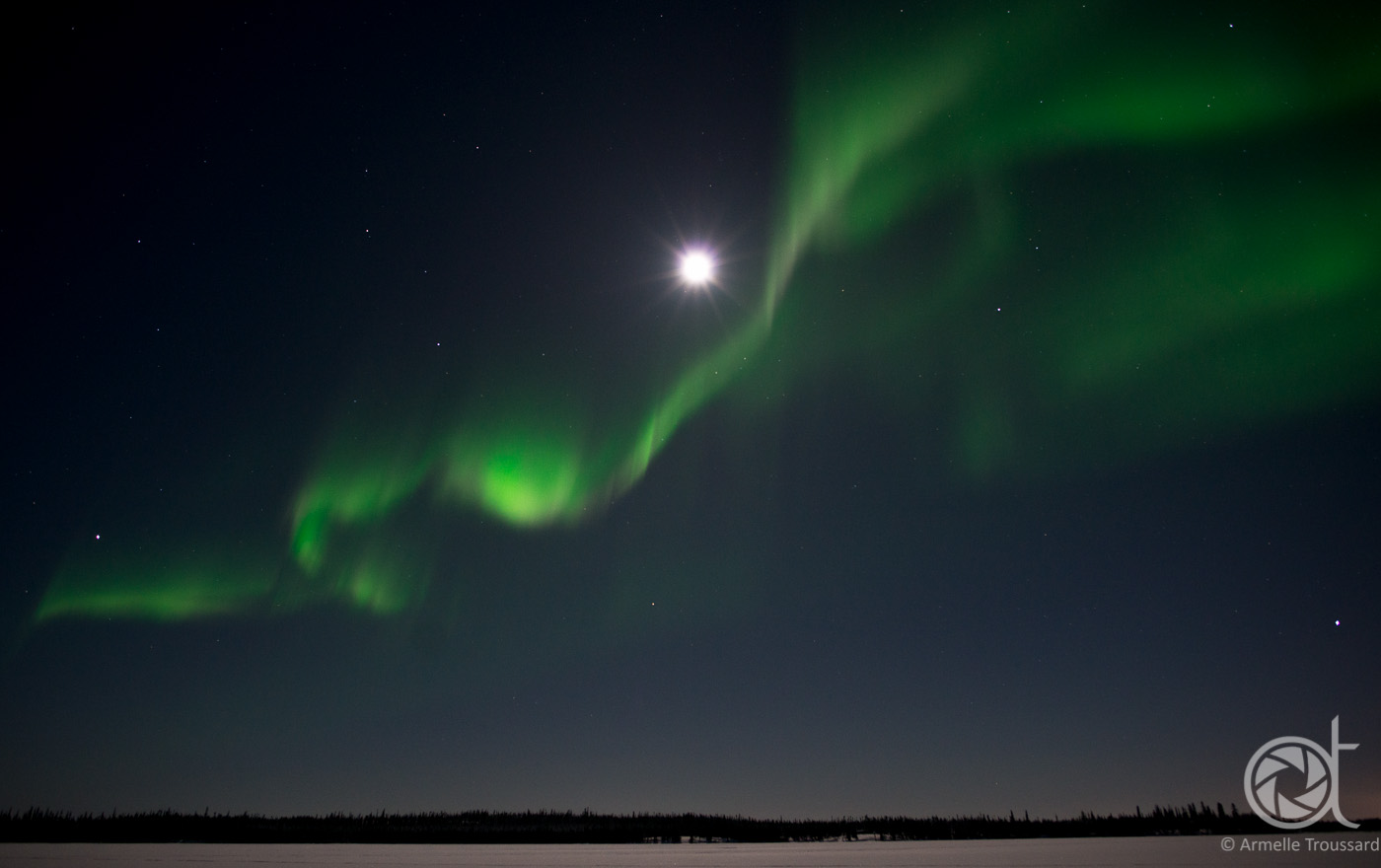 Northern lights - Walsh lake, Northwest Territories, Canada.