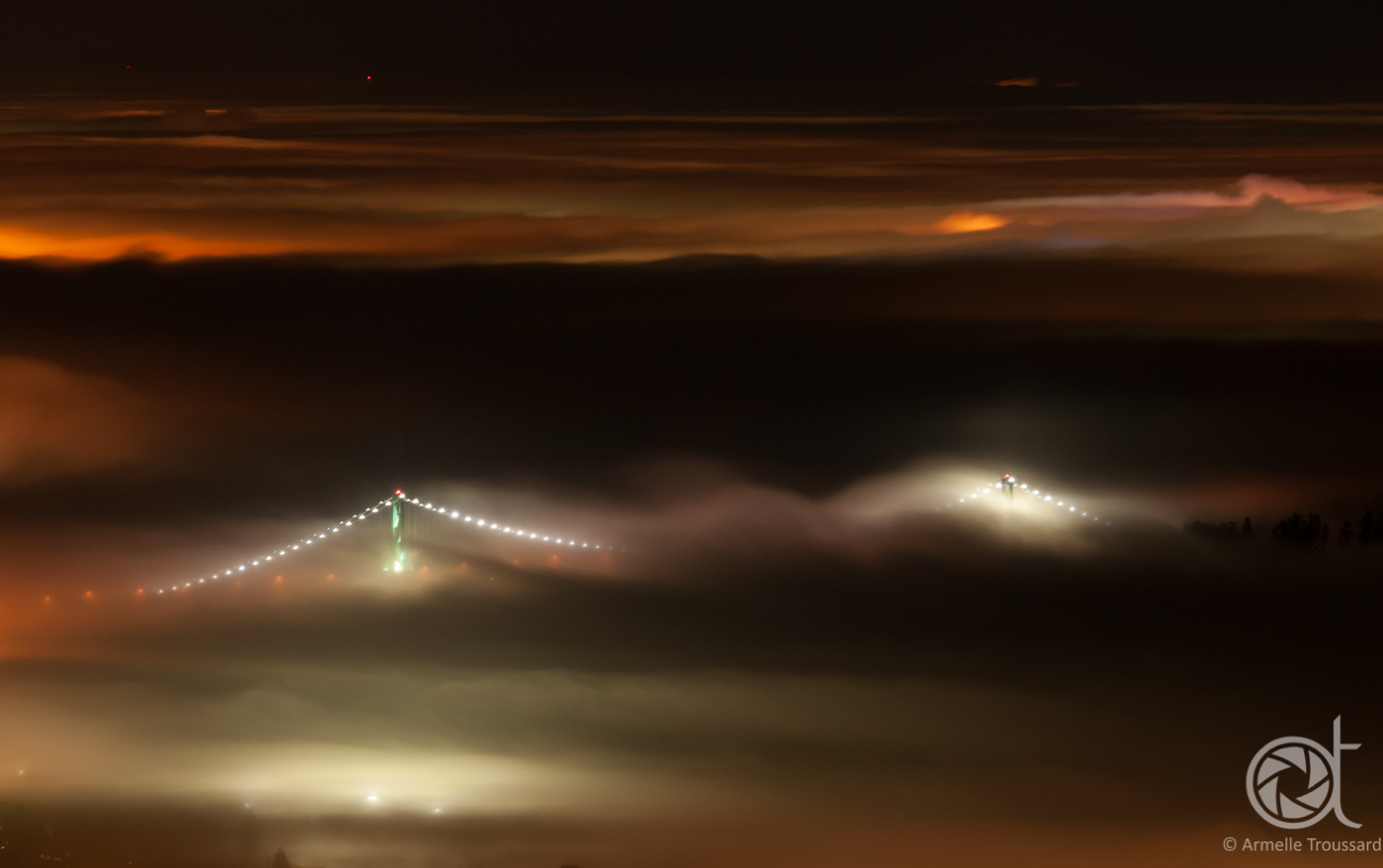 Inversion and Lions gate brigde, Vancouver, British Columbia, Canada