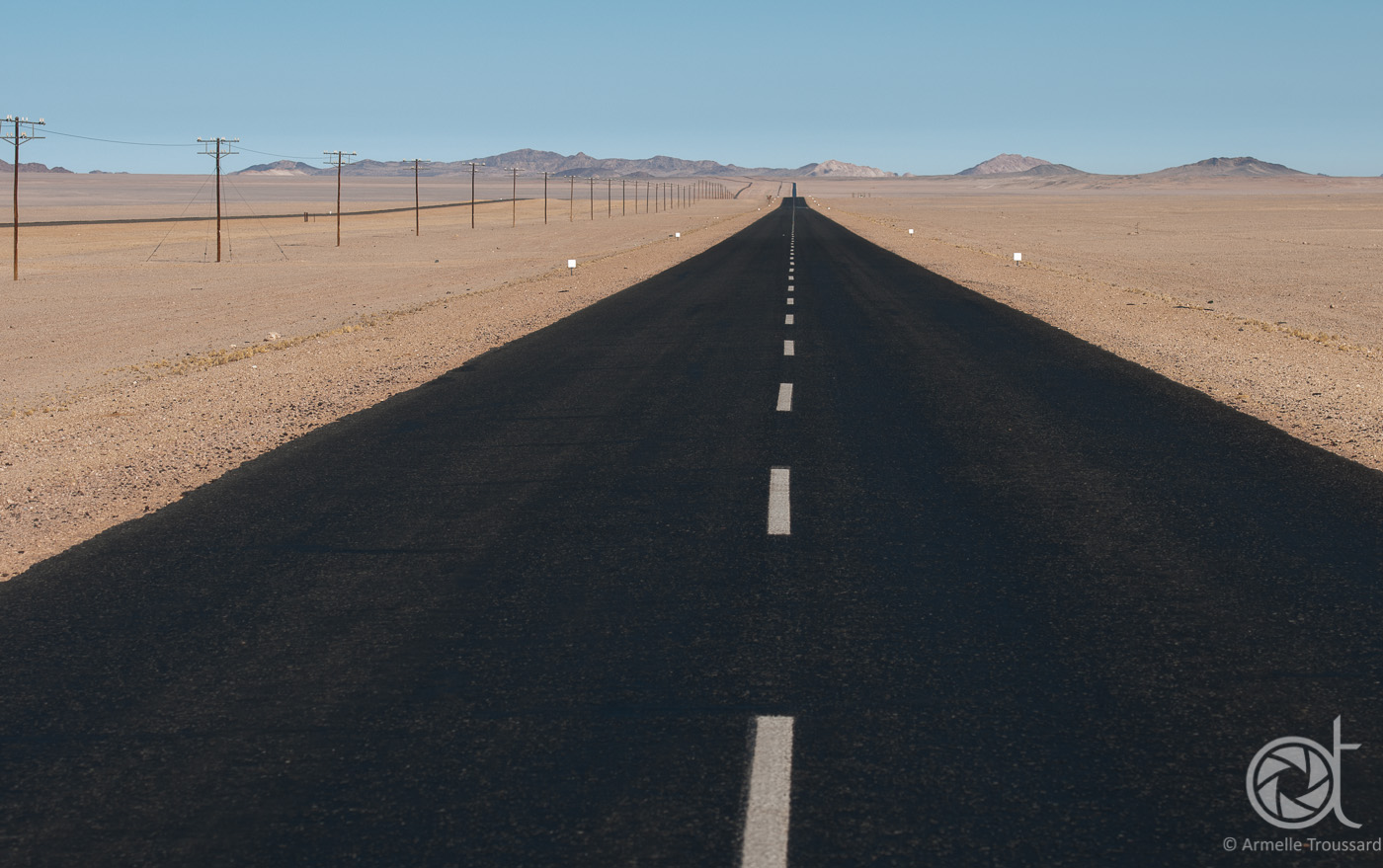 Down the road, Namibia.