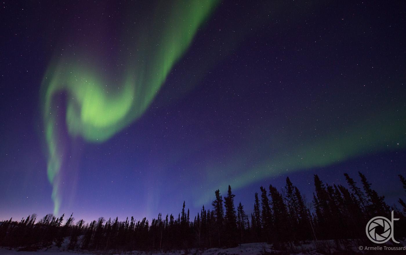 Northern lights - Walsh lake, Northwest Territories, Canada.