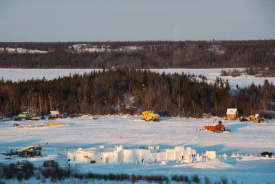 Ice castle - Yellowknife bay