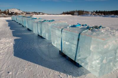 Ice blocks - Yellowknife bay