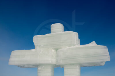 Find your way - Inukshuk ice sculpture