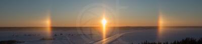 Sundog over Dettah ice road