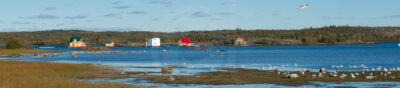 Yellowknife bay - Floating houses